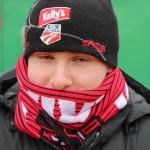 Andreas Petritsch warm eingepackt im JSV-Schal