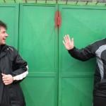 Co-Trainer Wofgang Ernst mit Oliver Schweinzer